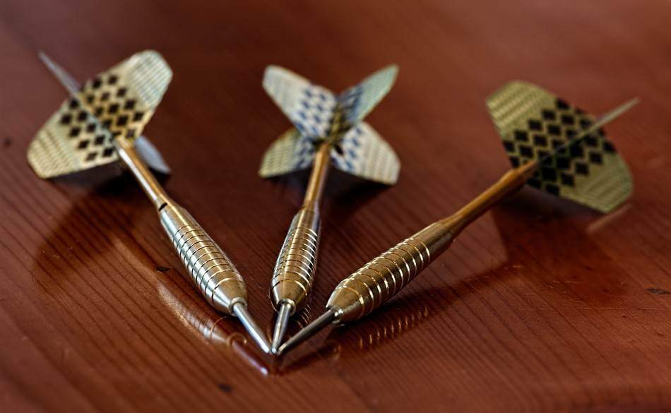 Set of steel tip darts