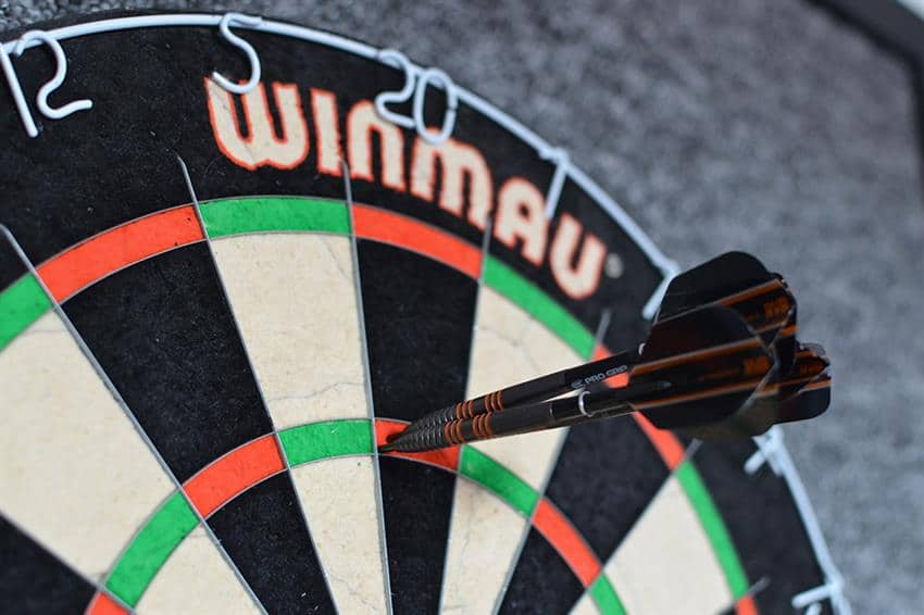 180 is a good goal for your darts