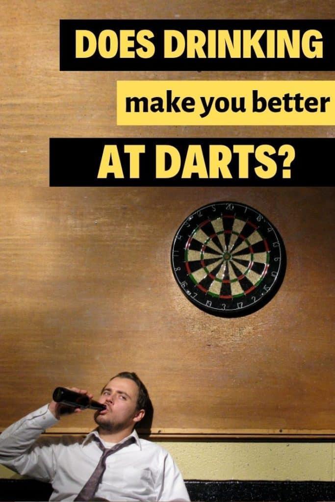 does beer make you better at darts